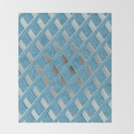 Blue Grill Abstract Throw Blanket