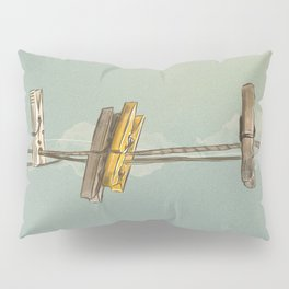 Vintage Clothespin Pillow Sham