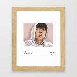 Jimin Photo Framed Art Print
