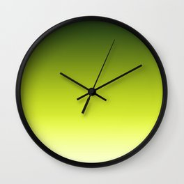 Yellow green Ombre Wall Clock