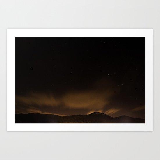 Staring night Art Print
