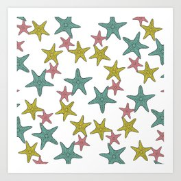starfish tropical print Art Print