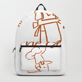 The Grill King Funny Chef Cook Grilling BBQ Meat Backpack