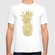 Golden Pineapple Mens Fitted Tee White MEDIUM