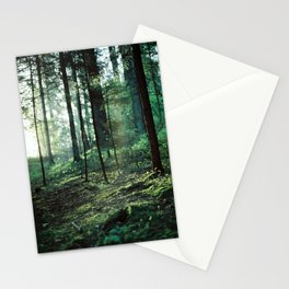 Sunrise in the forest Stationery Cards