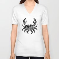 cancer V-neck T-shirts featuring Cancer by Mario Sayavedra