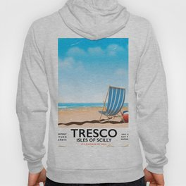 Tresco Isles of Scilly vintage train poster Hoody