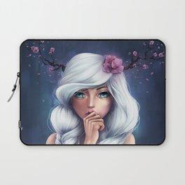 White-haired Girl Laptop Sleeve