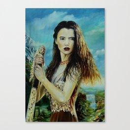 Goddess Freyja Overlooking the Fólkvangr Canvas Print