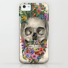 floral beard skull Slim Case iPhone 5c