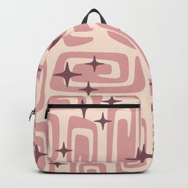 Mid Century Modern Cosmic Galaxies 229 Dusty Rose Backpack