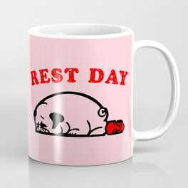 Rest Day Pug Coffee Mug