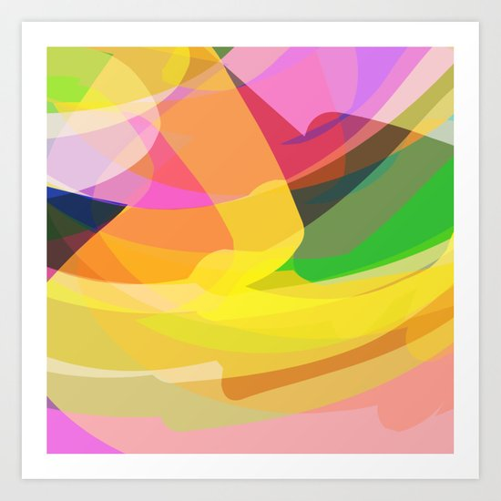 abstract print Art Print
