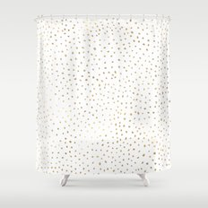 Dotted Gold Shower Curtain