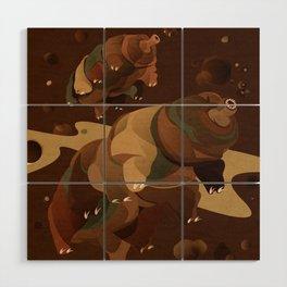 Tardigrade Enjoys Coffee Wood Wall Art