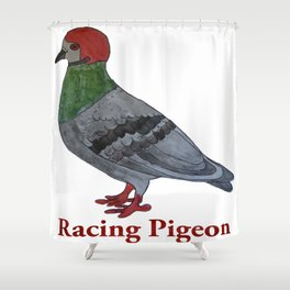 Racing Pigeon Shower Curtain