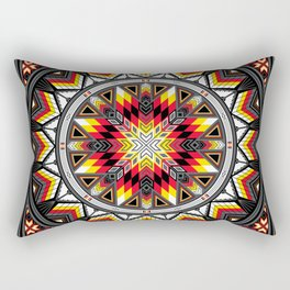 Sacred Places Red Rectangular Pillow