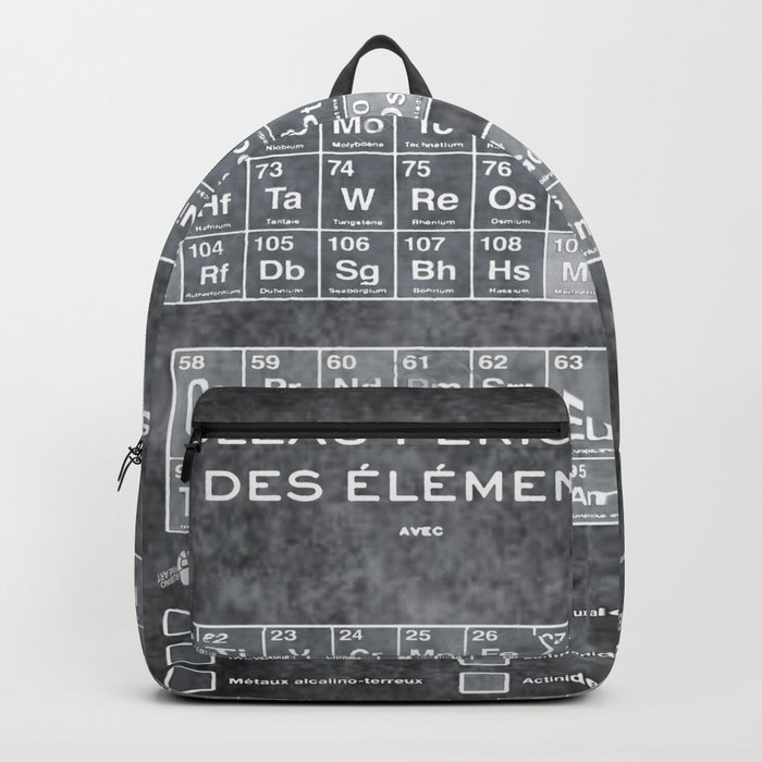 Tableau periodiques periodic table of the elements vintage chart tableau periodiques periodic table of the elements vintage chart silver backpack urtaz Image collections