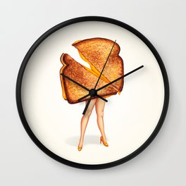 Grilled Cheese Sandwich Pin-Up Wall Clock