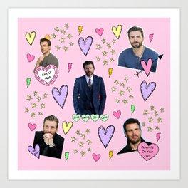 Chris Evans Love Art Print