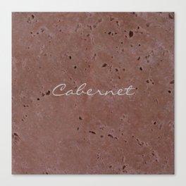 Cabernet Wine Red Travertine - Rustic - Rustic Glam Canvas Print