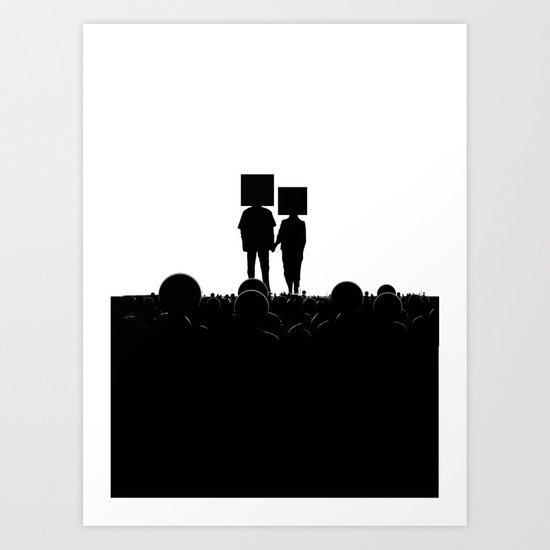 I have you. You have me. - US AND THEM Art Print