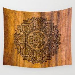 Mandala on Wood Wall Tapestry