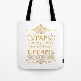 To the Stars - White Tote Bag