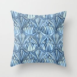 View From a Blue Window Throw Pillow