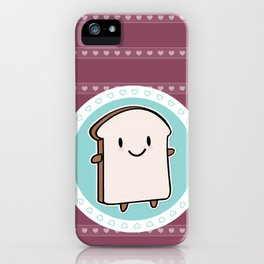Happy Bread Slice iPhone Case