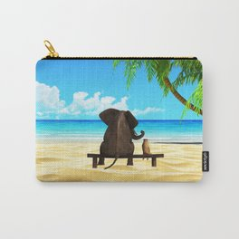 Relaxed elephants at sea Carry-All Pouch