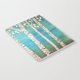 Turquoise birch forest Notebook