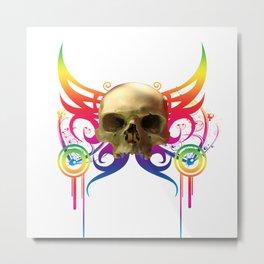 Vampire Skull Metal Print