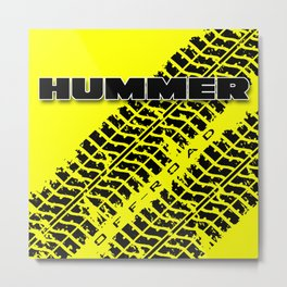 Hummer t shirt (Yellow) Metal Print