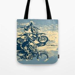 Dirt Track - Motocross Racing Tote Bag