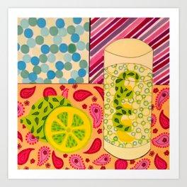 A Long Cool Drink Art Print