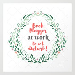 Book Blogger at work. Art Print