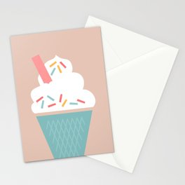 Ice Cream (Peach) Stationery Cards