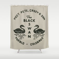 The Black Swan Shower Curtain