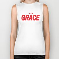 grace Biker Tanks featuring Grace by Mr.Tellmesomething
