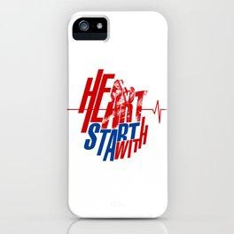 Heart start with Art iPhone Case