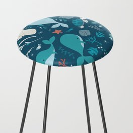 Sea creatures 004 Counter Stool