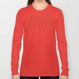 NYC Nights Gold Polka Dot Stripes Long Sleeve T-shirt