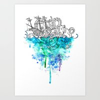 From the Deep, Deep Down. Art Print