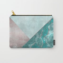 Gemstone And Geode Triangles Carry-All Pouch
