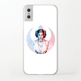 Rebel Princess Clear iPhone Case