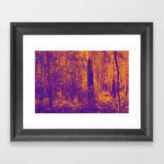 OVER THE RIVER AND INTO THE ABYSS Framed Art Print