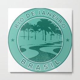 Rio de Janeiro, Brazil, Copacabana beach, green circle Metal Print
