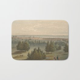 Vintage Pictorial View of Toronto Canada (1851) Bath Mat