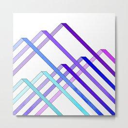Ribbons - Cool Metal Print